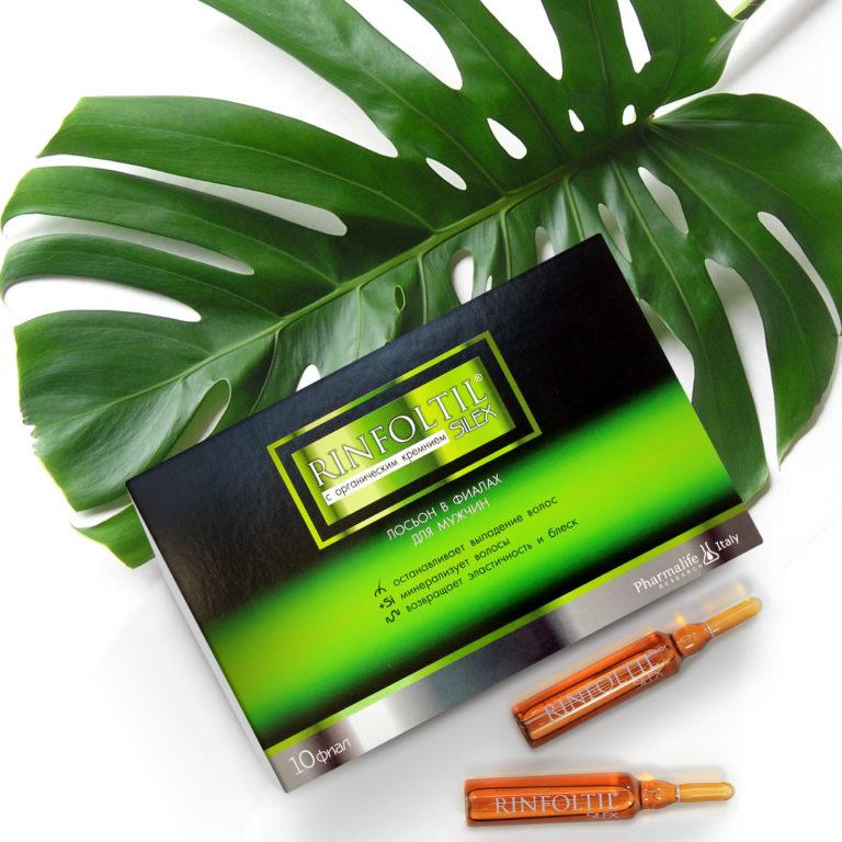 Лосьон Ринфолтил Силекс для мужчин с органическим кремниемот выпадения и для роста волос