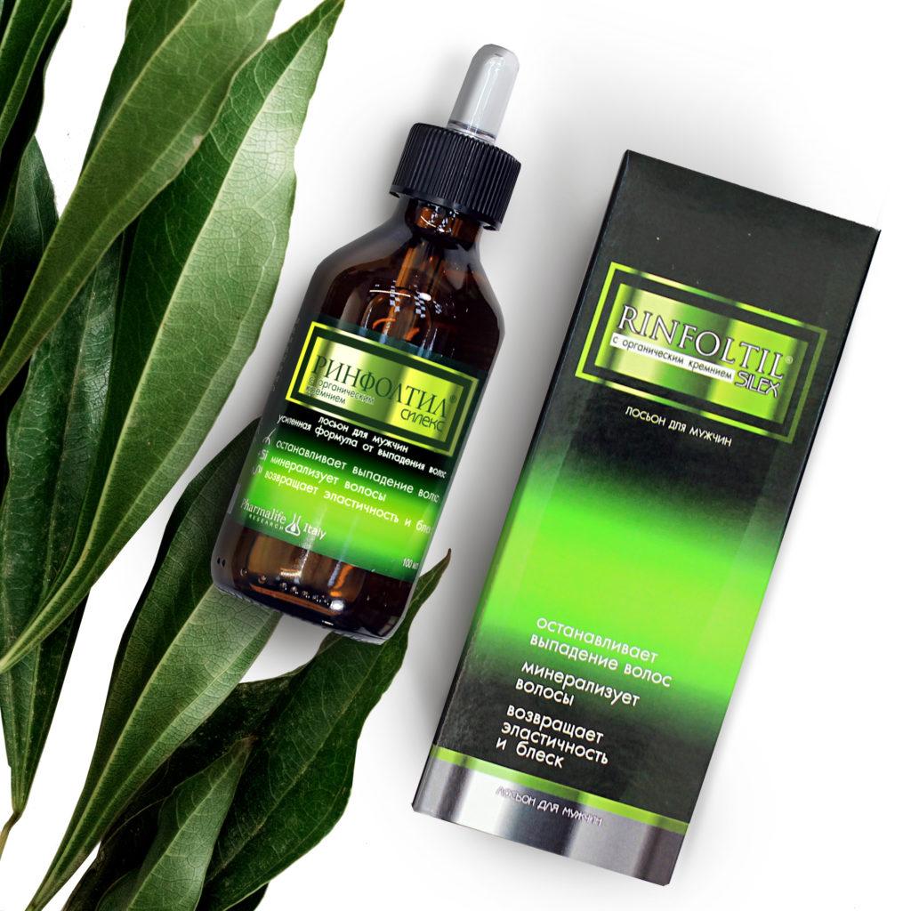 Лосьон Ринфолтил Силекс с органическим кремнием усиленная формула для мужчин от выпадения и для роста волос